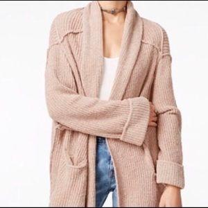 Free People Oversized Blush Sweater Cardigan